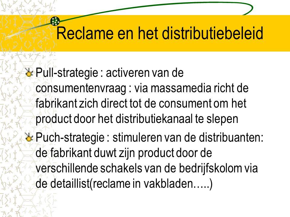 Reclame en het distributiebeleid
