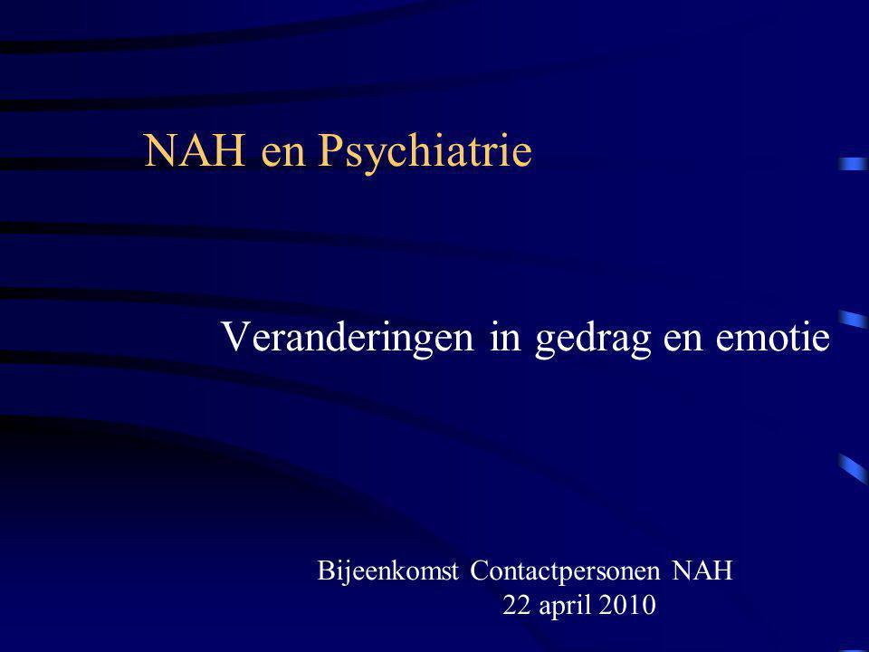 Bijeenkomst Contactpersonen NAH