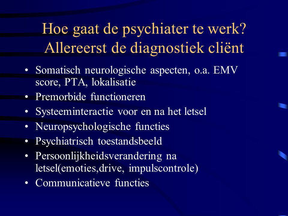 Hoe gaat de psychiater te werk Allereerst de diagnostiek cliënt