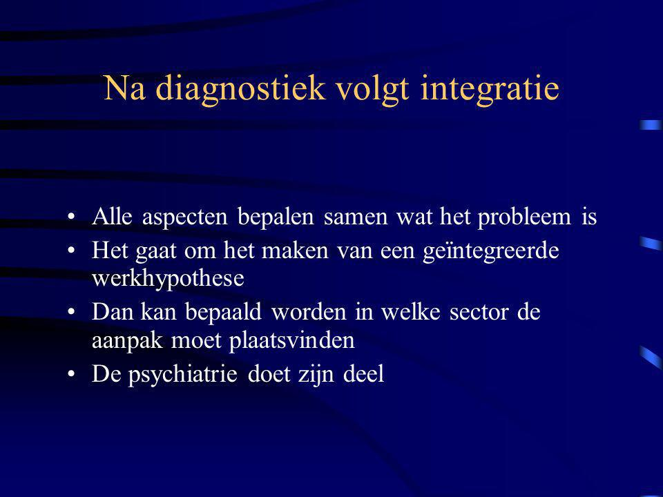 Na diagnostiek volgt integratie