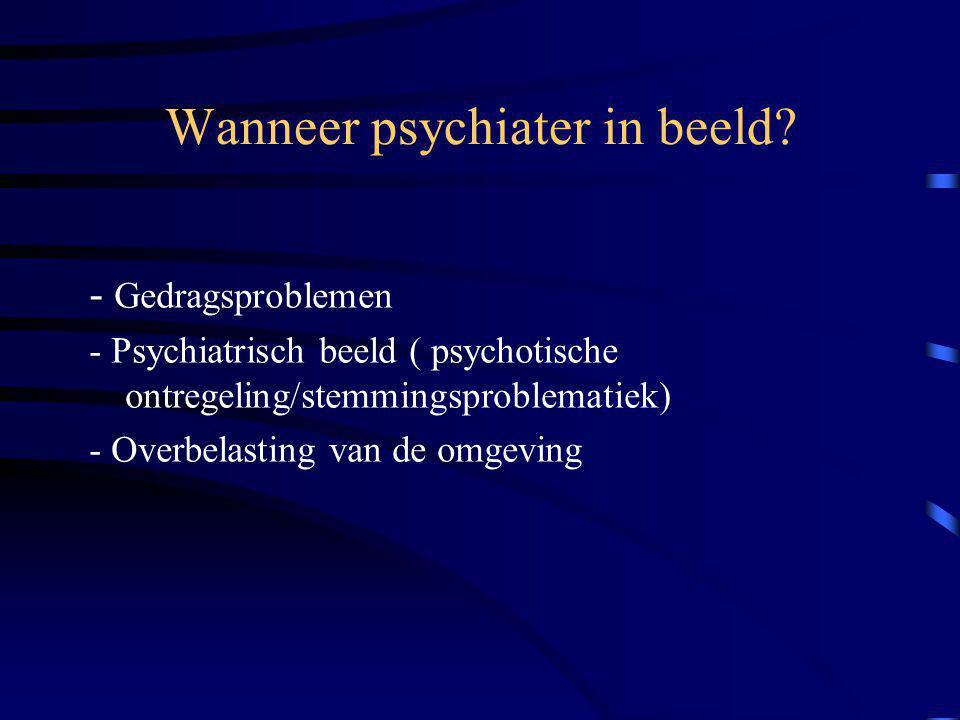 Wanneer psychiater in beeld