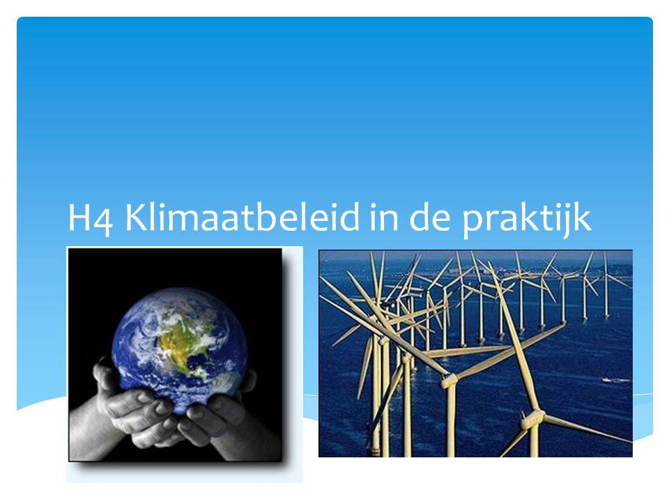 H4 Klimaatbeleid in de praktijk