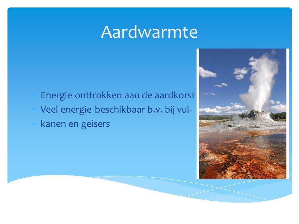 Aardwarmte Energie onttrokken aan de aardkorst