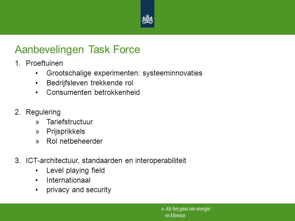 Aanbevelingen Task Force