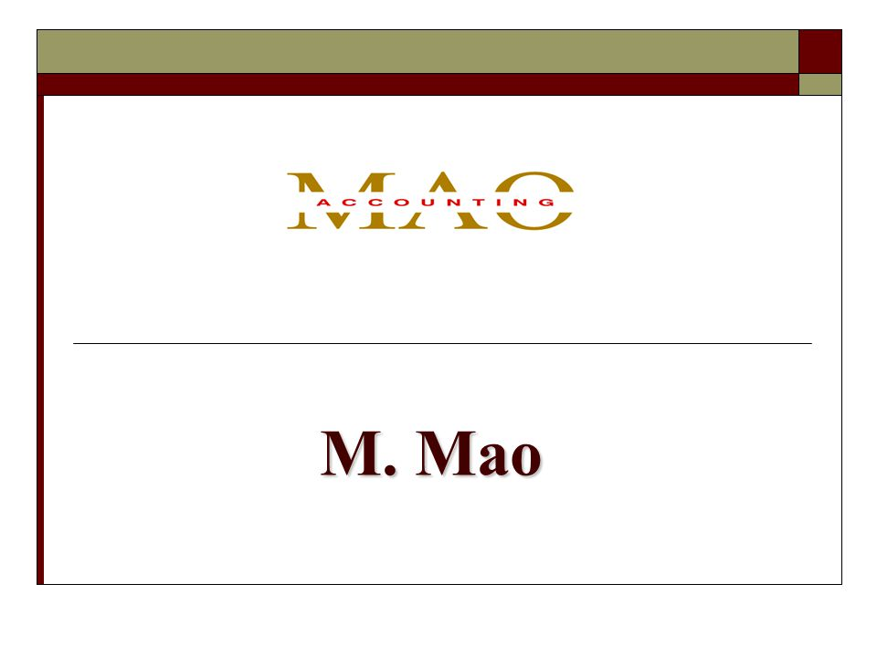 M. Mao