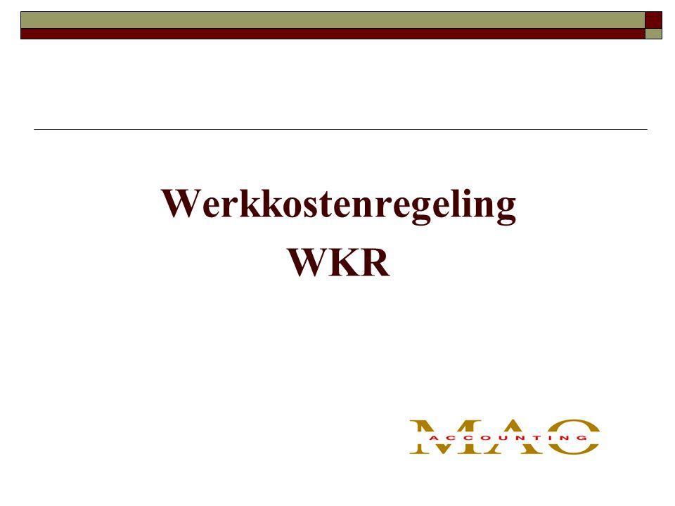 Werkkostenregeling WKR