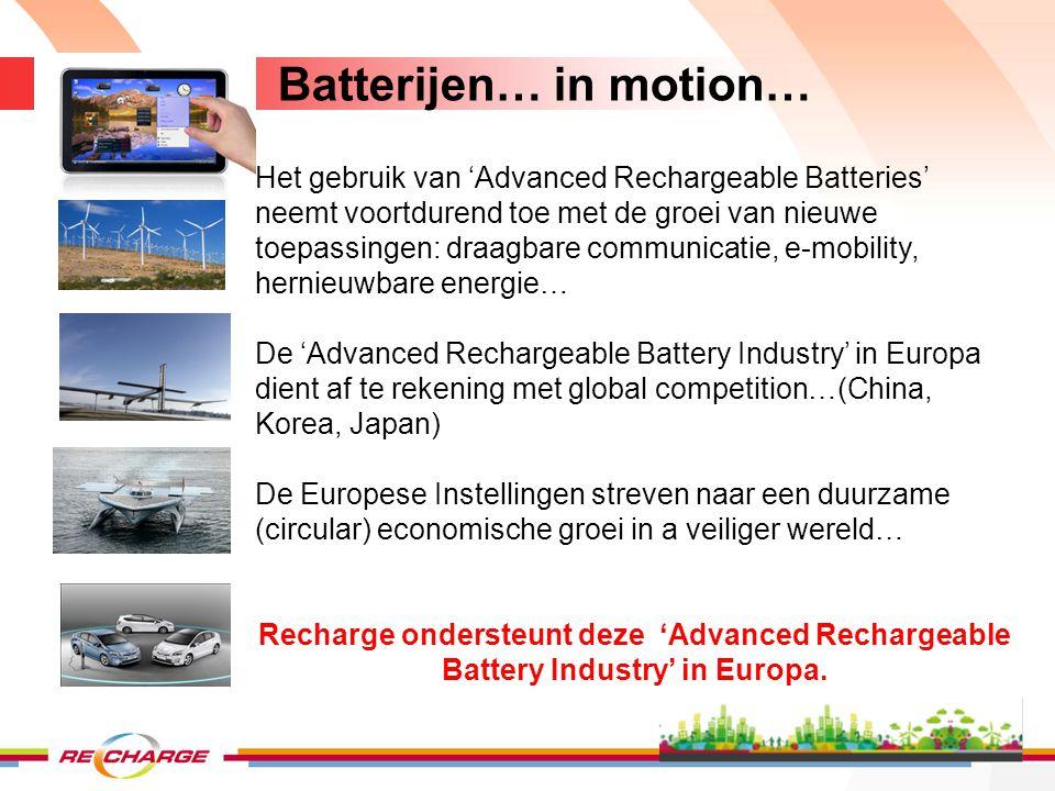 Batterijen… in motion…