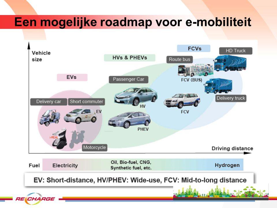 Een mogelijke roadmap voor e-mobiliteit