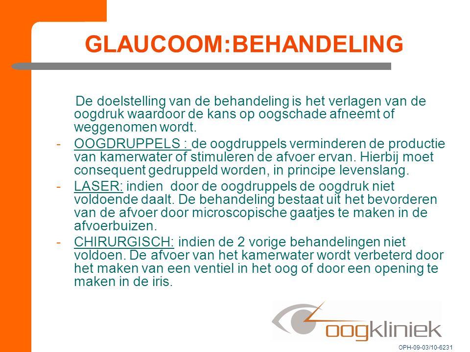 GLAUCOOM:BEHANDELING
