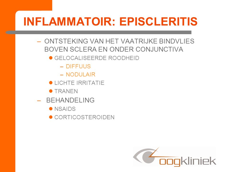 INFLAMMATOIR: EPISCLERITIS