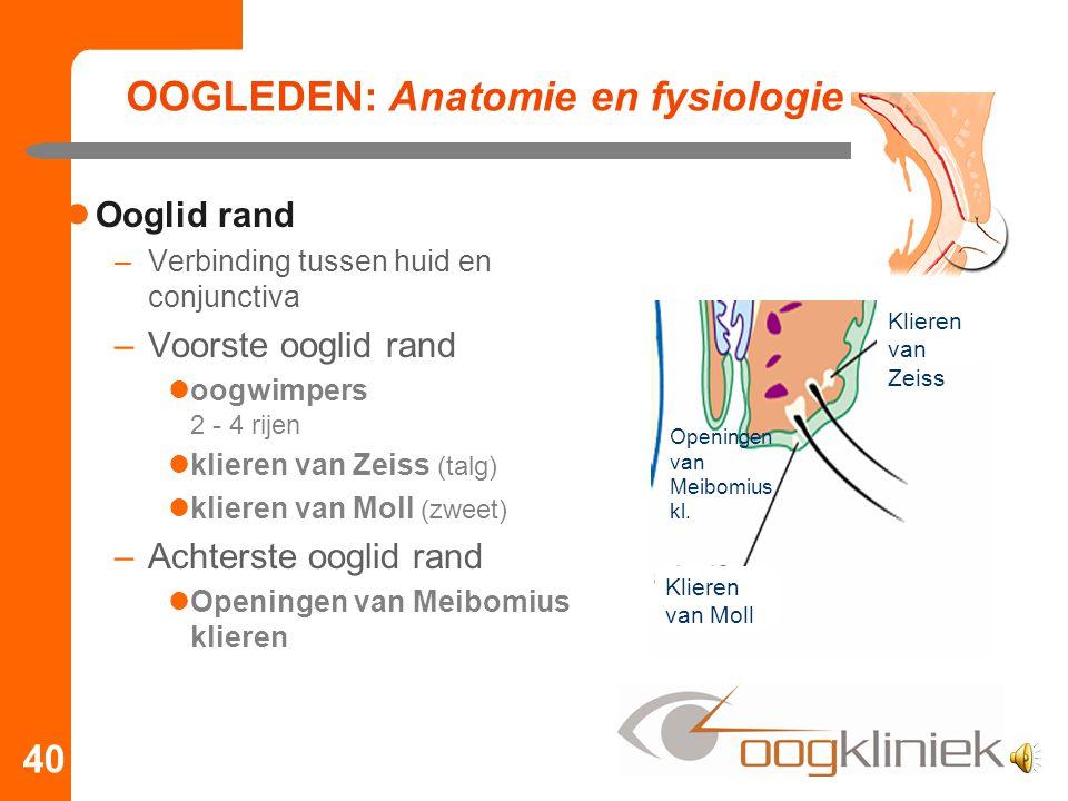 OOGLEDEN: Anatomie en fysiologie