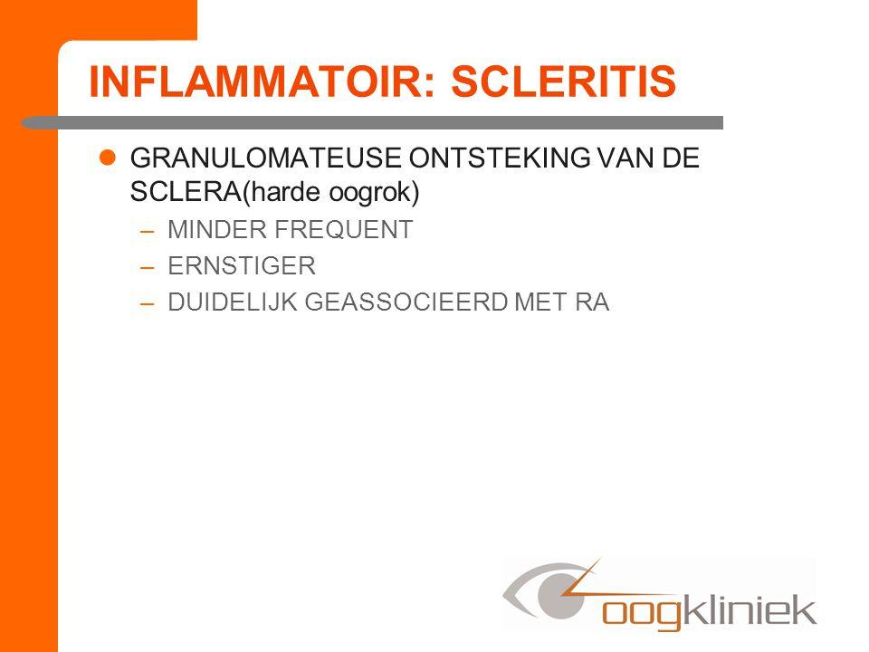 INFLAMMATOIR: SCLERITIS