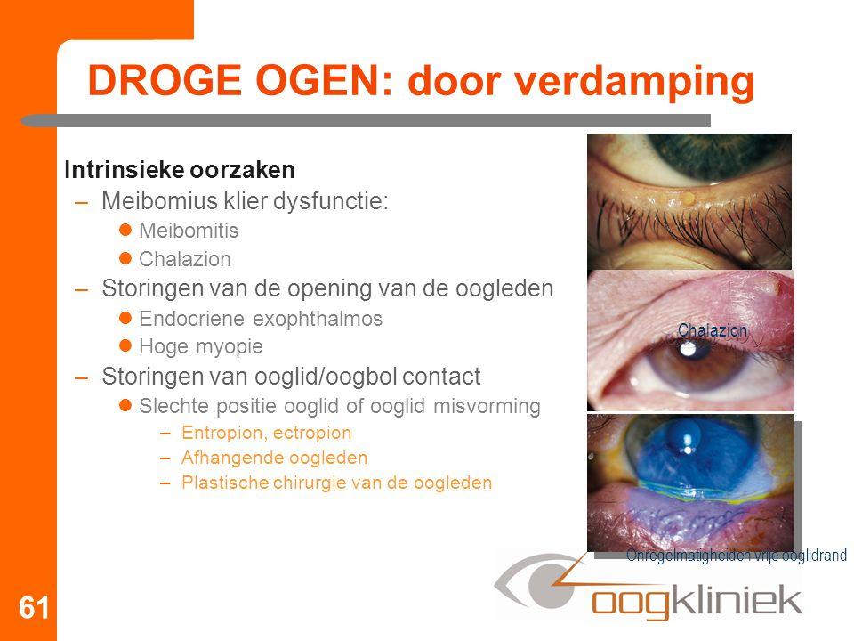 DROGE OGEN: door verdamping