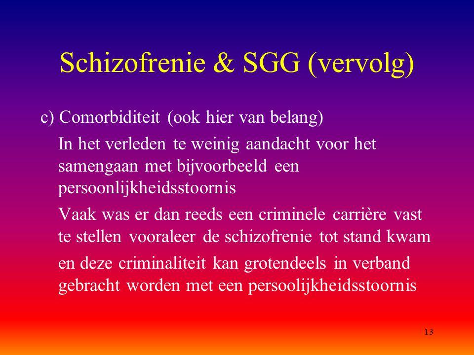 Schizofrenie & SGG (vervolg)