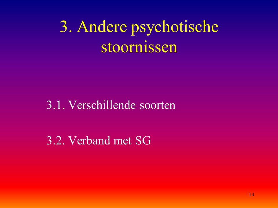 3. Andere psychotische stoornissen