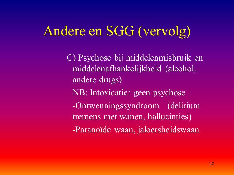 Andere en SGG (vervolg)