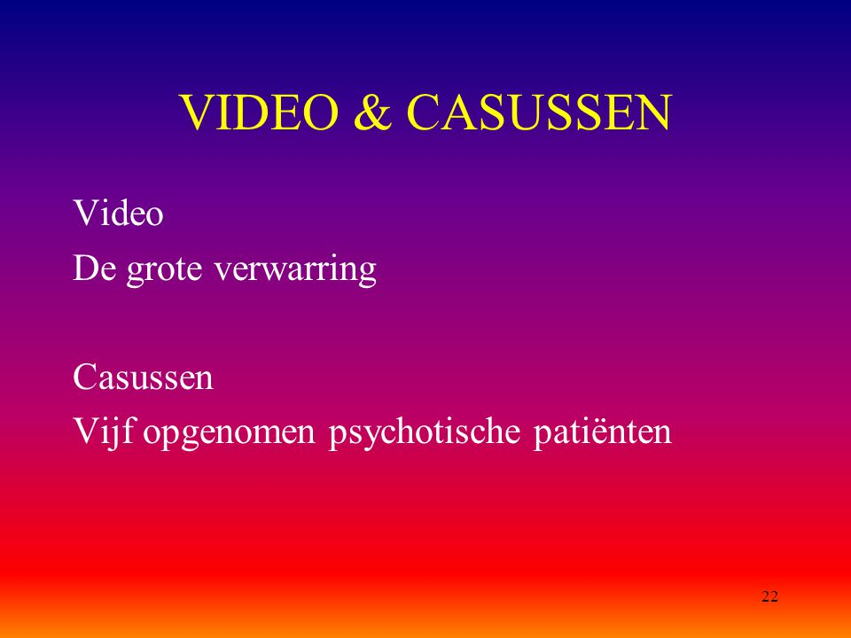 VIDEO & CASUSSEN Video De grote verwarring Casussen