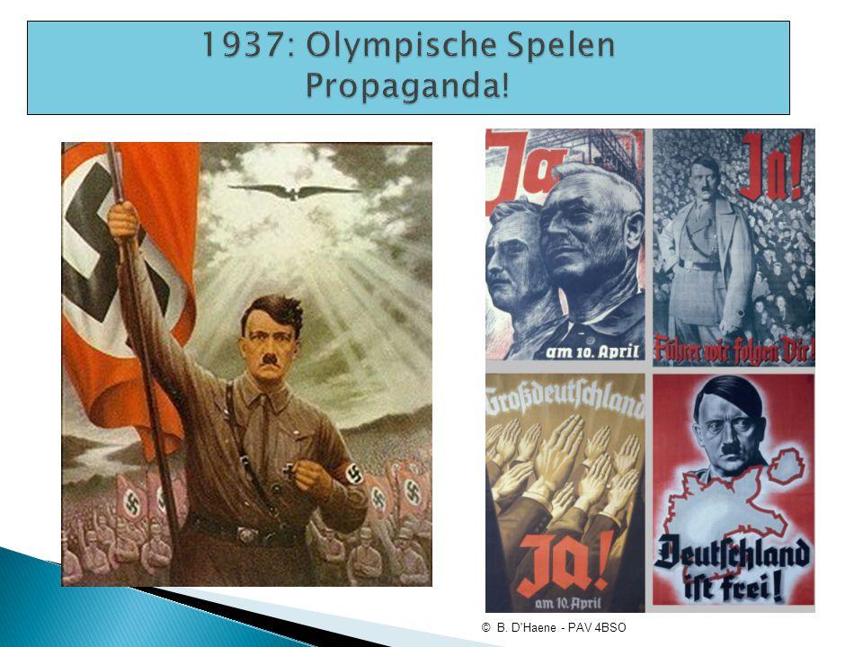 1937: Olympische Spelen Propaganda!