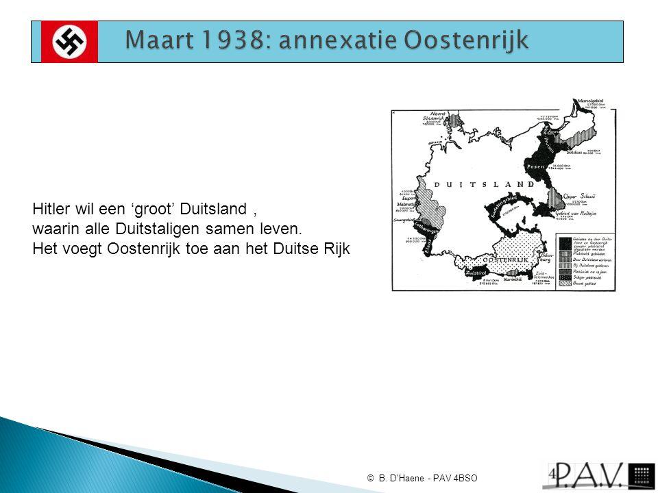 Maart 1938: annexatie Oostenrijk