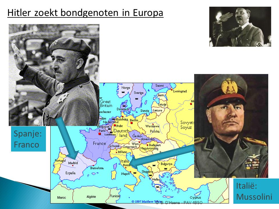 Hitler zoekt bondgenoten in Europa
