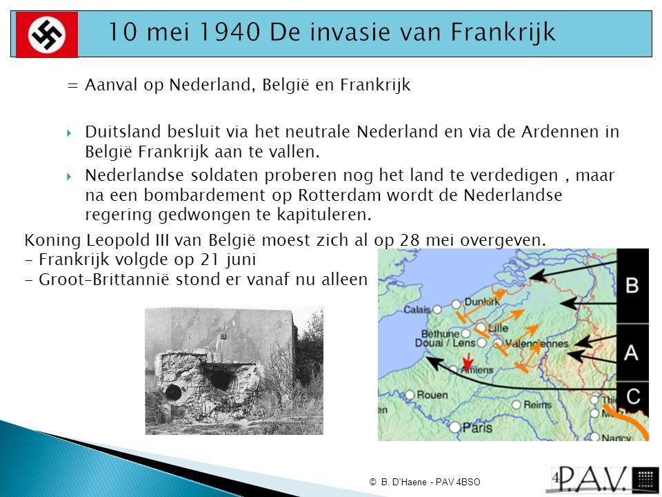 10 mei 1940 De invasie van Frankrijk