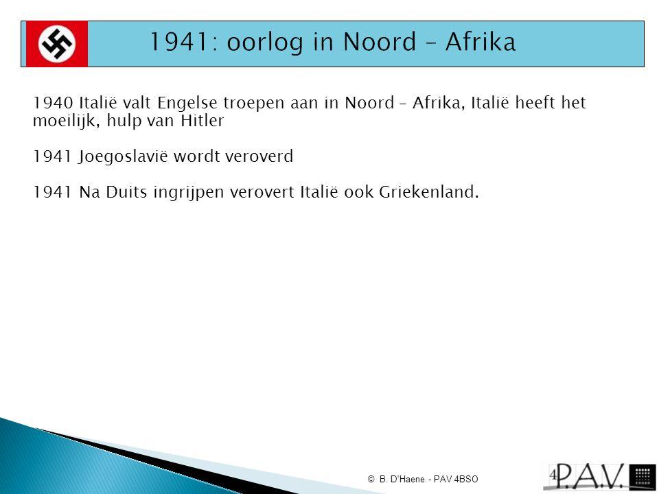 1941: oorlog in Noord – Afrika