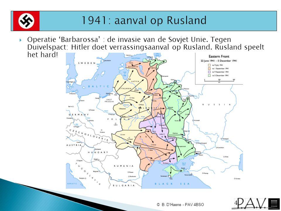 1941: aanval op Rusland