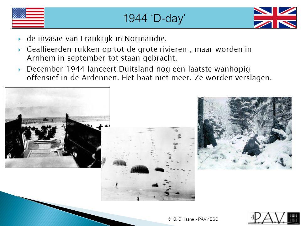 1944 'D-day' de invasie van Frankrijk in Normandie.