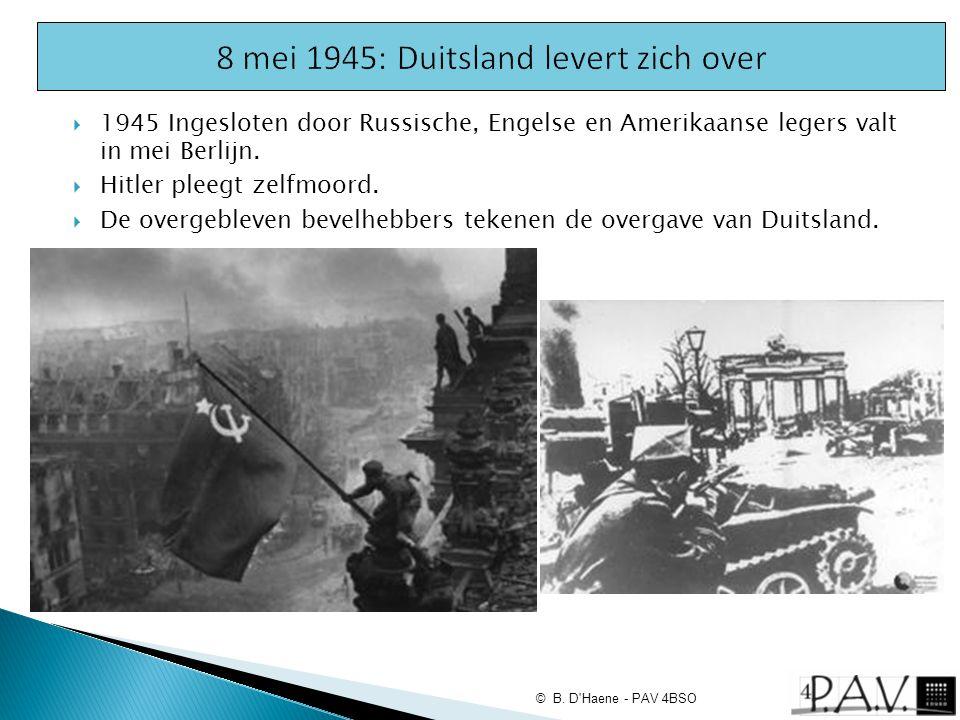 8 mei 1945: Duitsland levert zich over