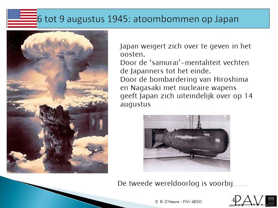 6 tot 9 augustus 1945: atoombommen op Japan