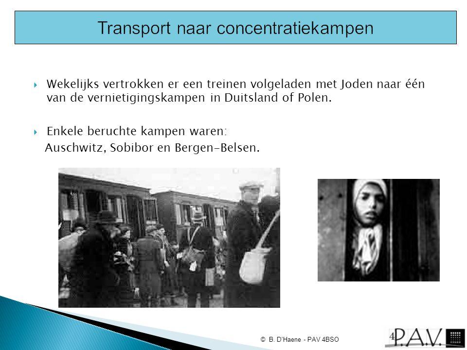 Transport naar concentratiekampen
