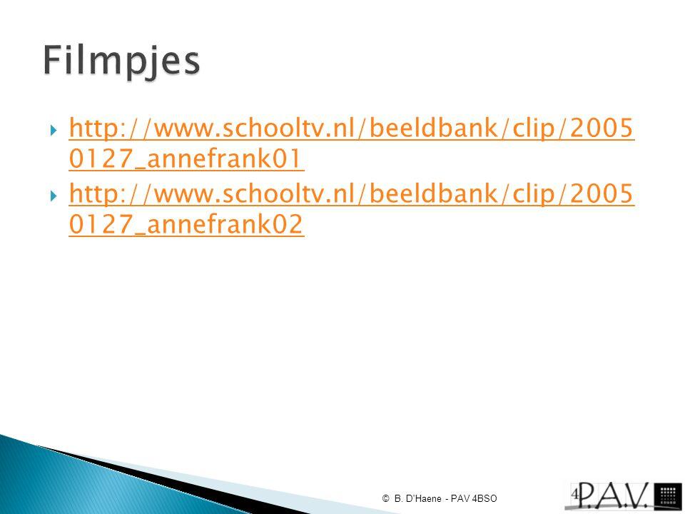 Filmpjes http://www.schooltv.nl/beeldbank/clip/2005 0127_annefrank01