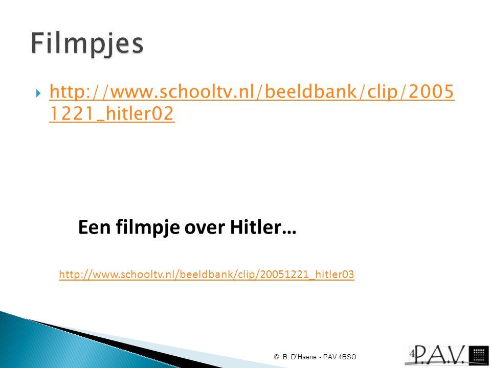 Filmpjes Een filmpje over Hitler…