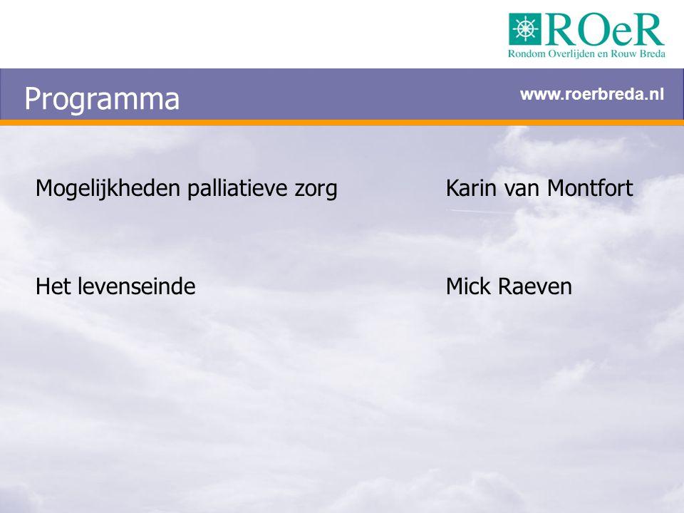 Programma Mogelijkheden palliatieve zorg Karin van Montfort