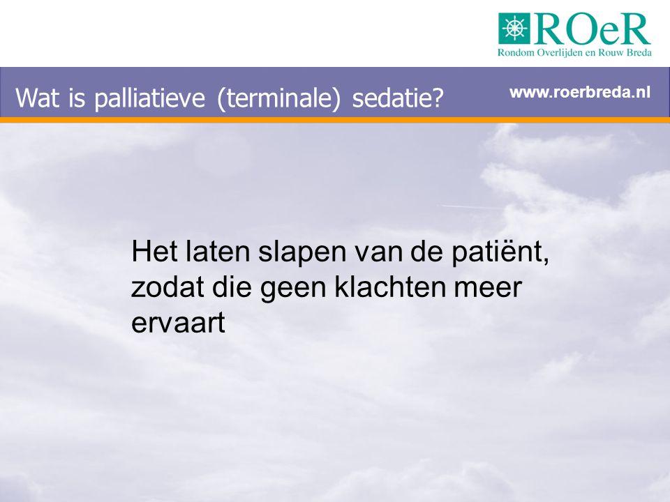 Wat is palliatieve (terminale) sedatie