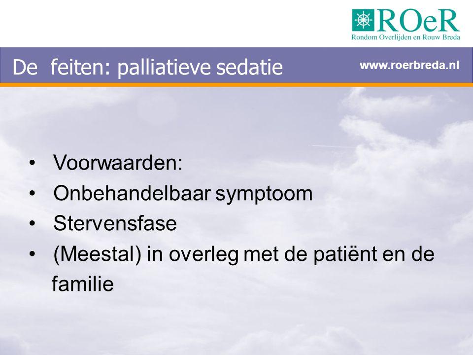 De feiten: palliatieve sedatie