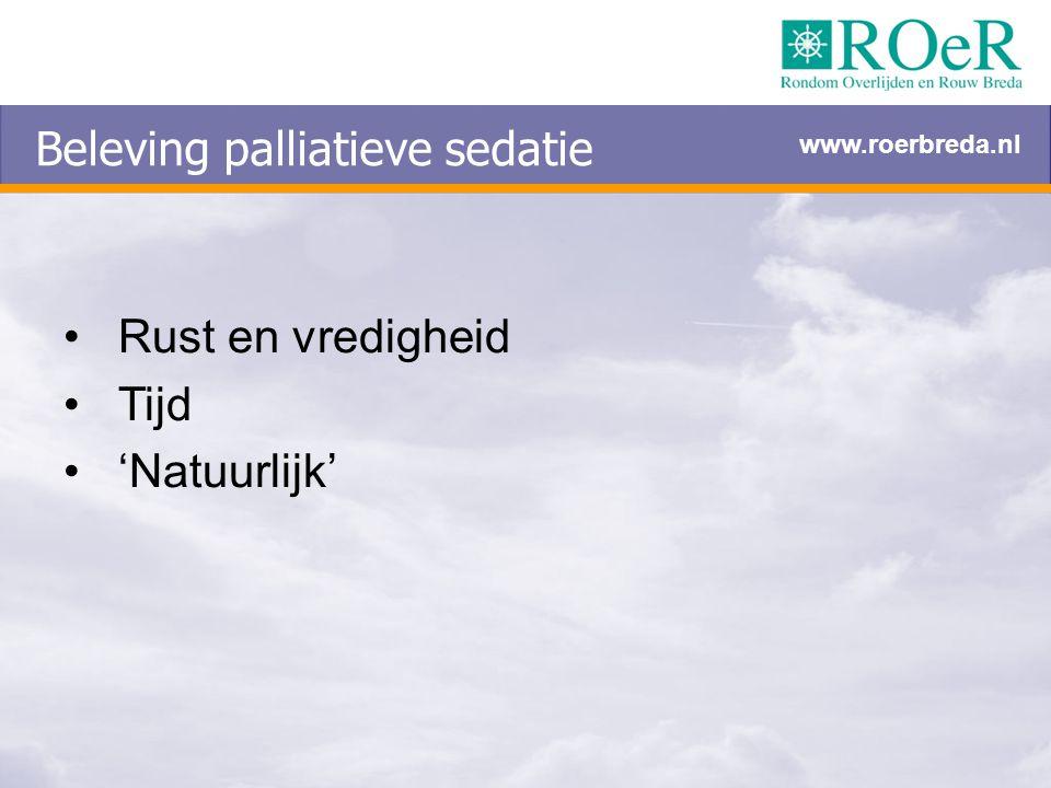 Beleving palliatieve sedatie
