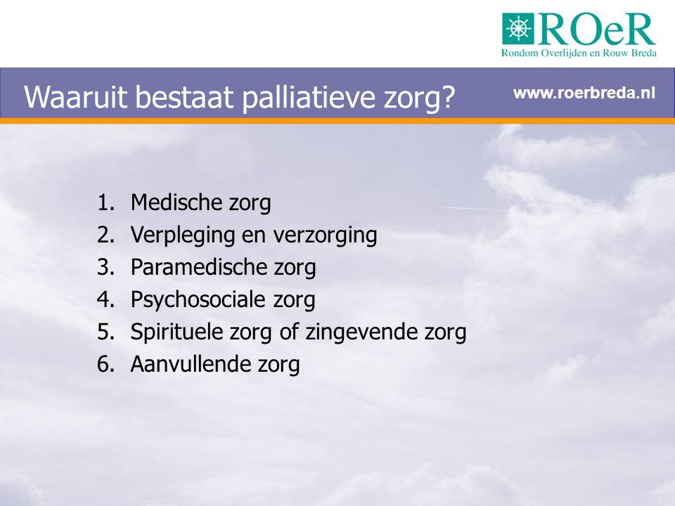 Waaruit bestaat palliatieve zorg