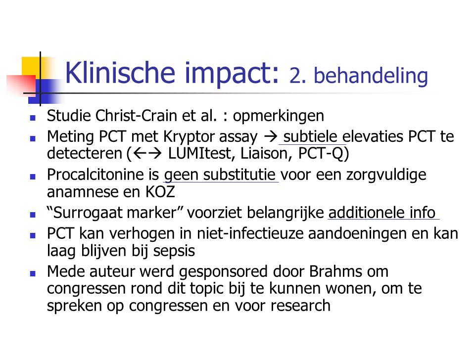 Klinische impact: 2. behandeling