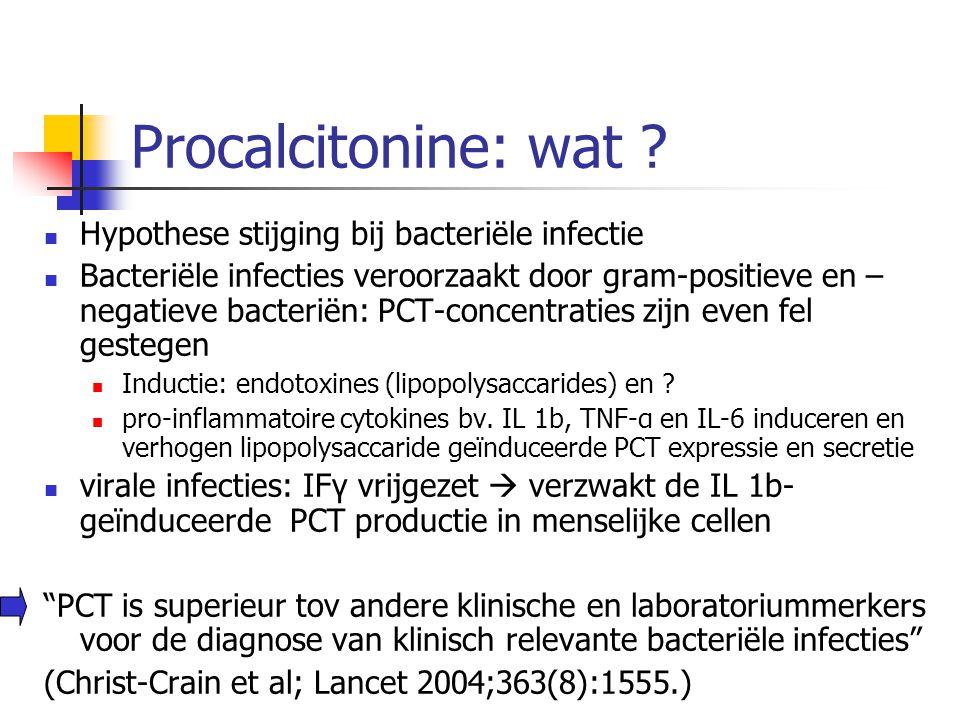 Procalcitonine: wat Hypothese stijging bij bacteriële infectie
