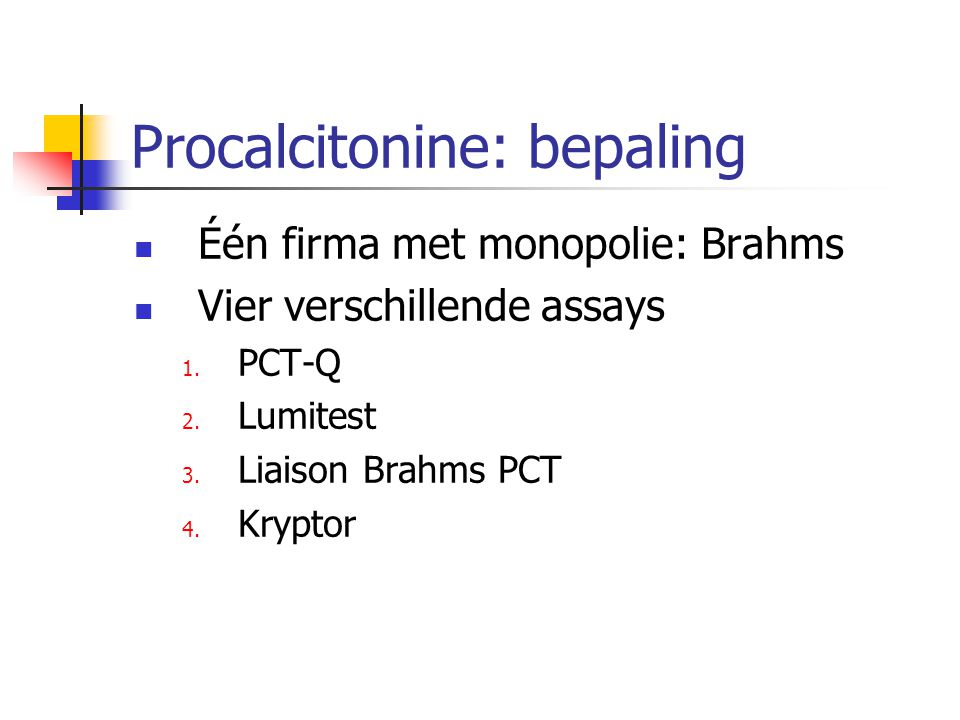 Procalcitonine: bepaling