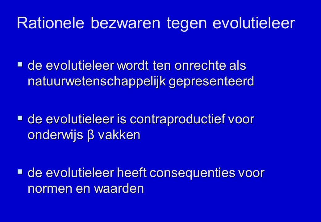 Rationele bezwaren tegen evolutieleer