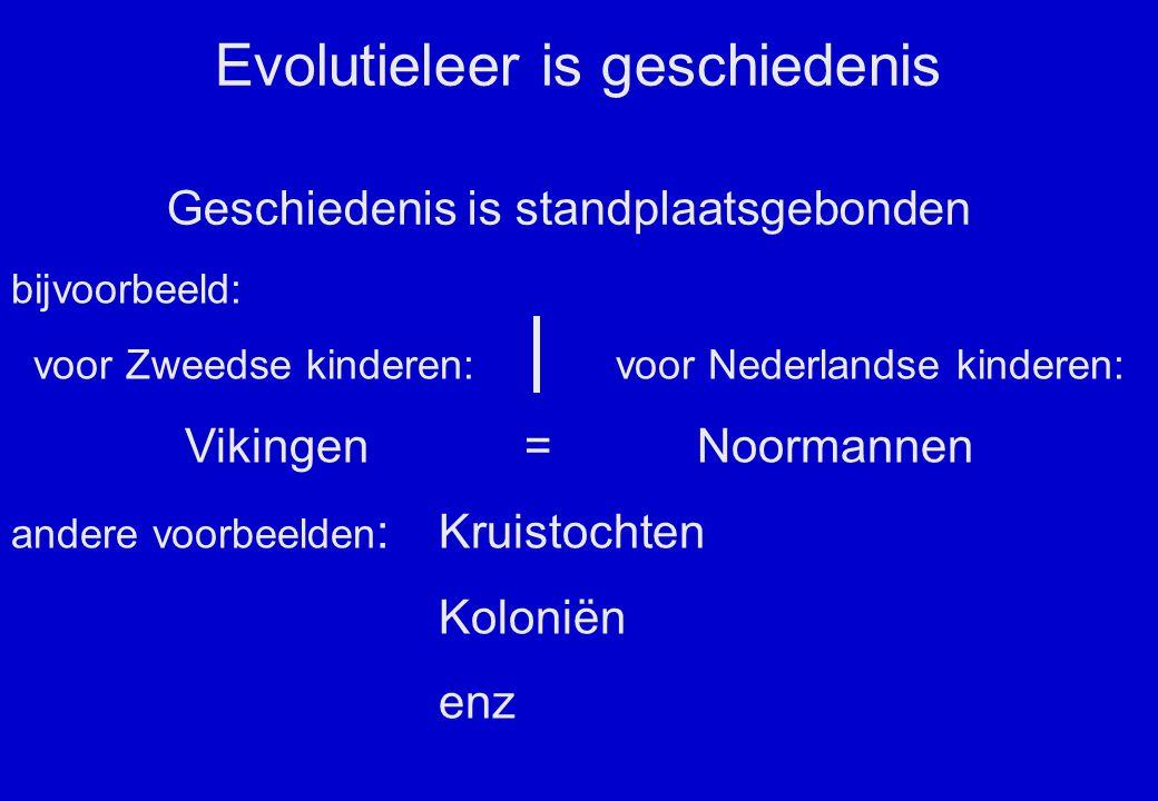Evolutieleer is geschiedenis
