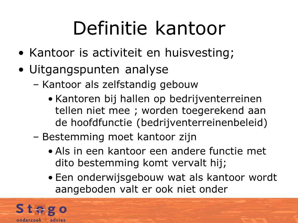 Definitie kantoor Kantoor is activiteit en huisvesting;