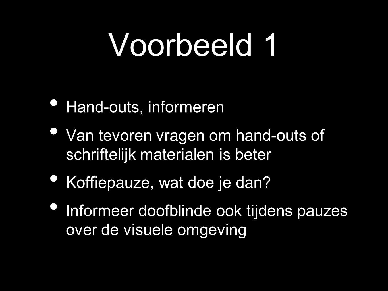 Voorbeeld 1 Hand-outs, informeren