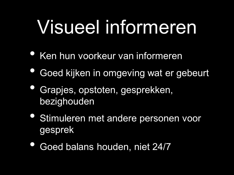 Visueel informeren Ken hun voorkeur van informeren