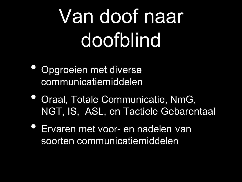Van doof naar doofblind
