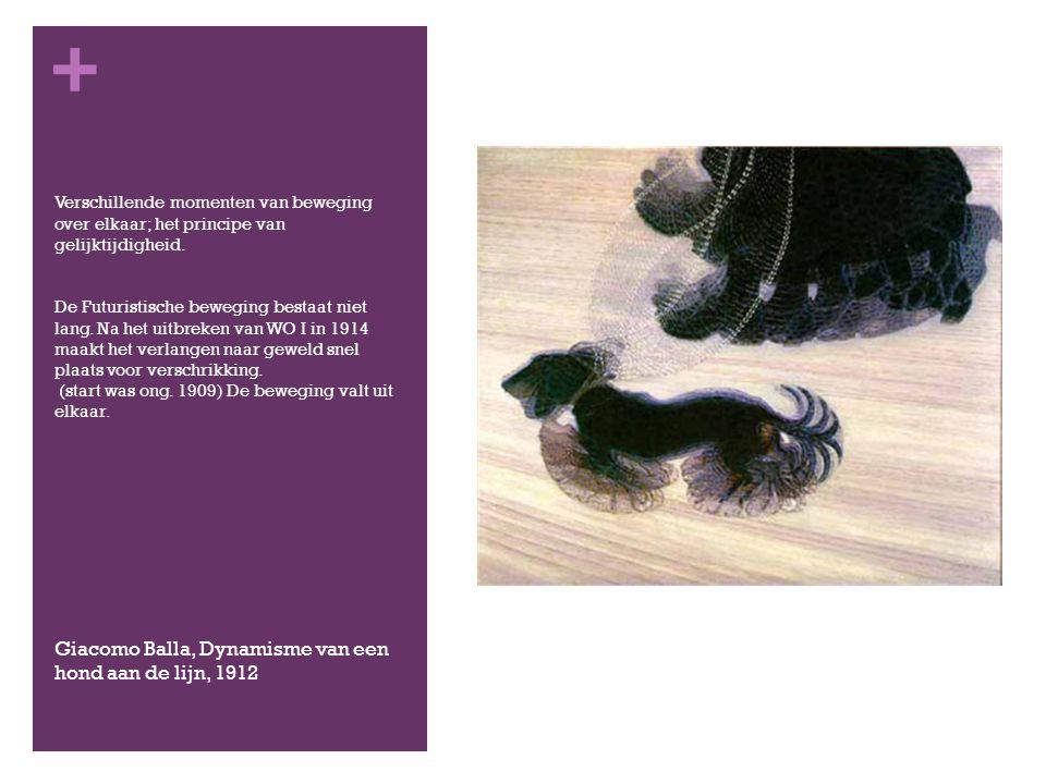 Giacomo Balla, Dynamisme van een hond aan de lijn, 1912