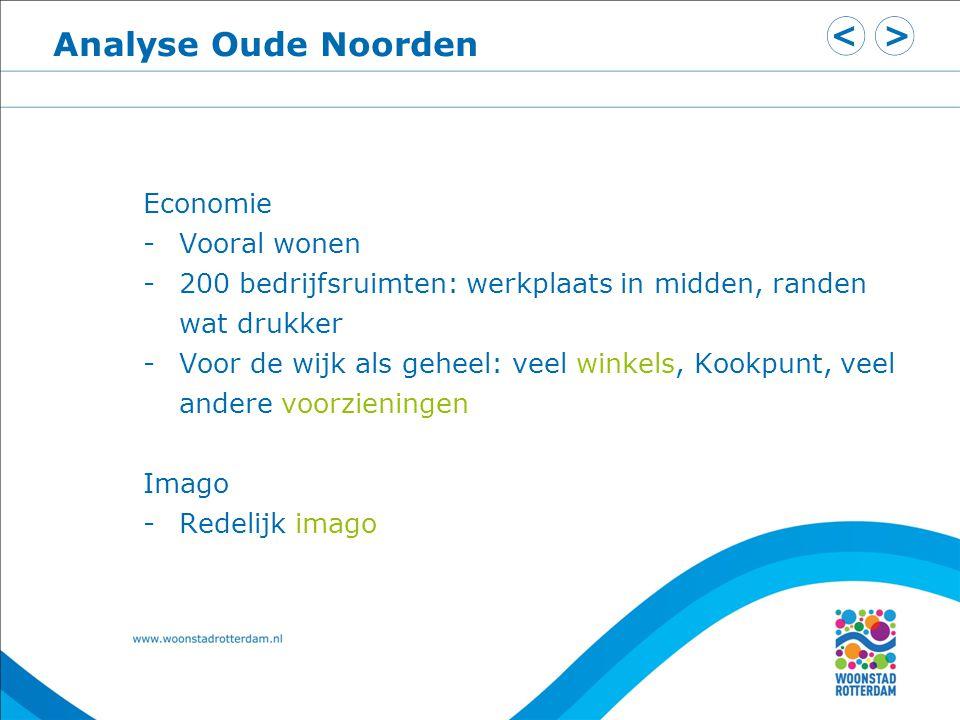 Analyse Oude Noorden Economie Vooral wonen