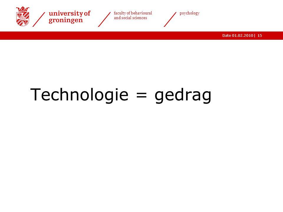 Technologie = gedrag